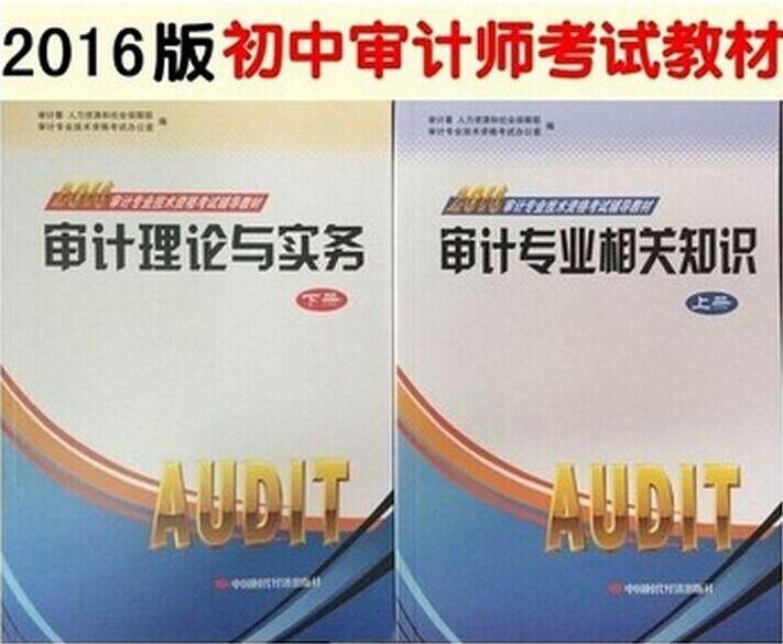2016年版审计师初中级审计专业相关知识(上册)与审计理论与实务(下册)全套2本官方指定教材