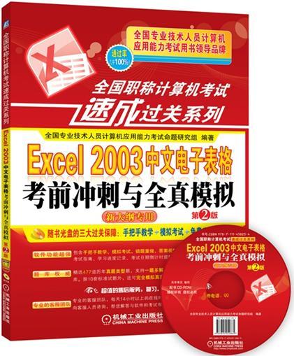 全国职称计算机考试速成过关系列Excel2003中文电子表格考前冲刺与全真模拟(附光盘)
