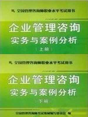 2013年企业管理咨询实务与案例分析(上下册)管理咨询师千赢国际手机版下载用书